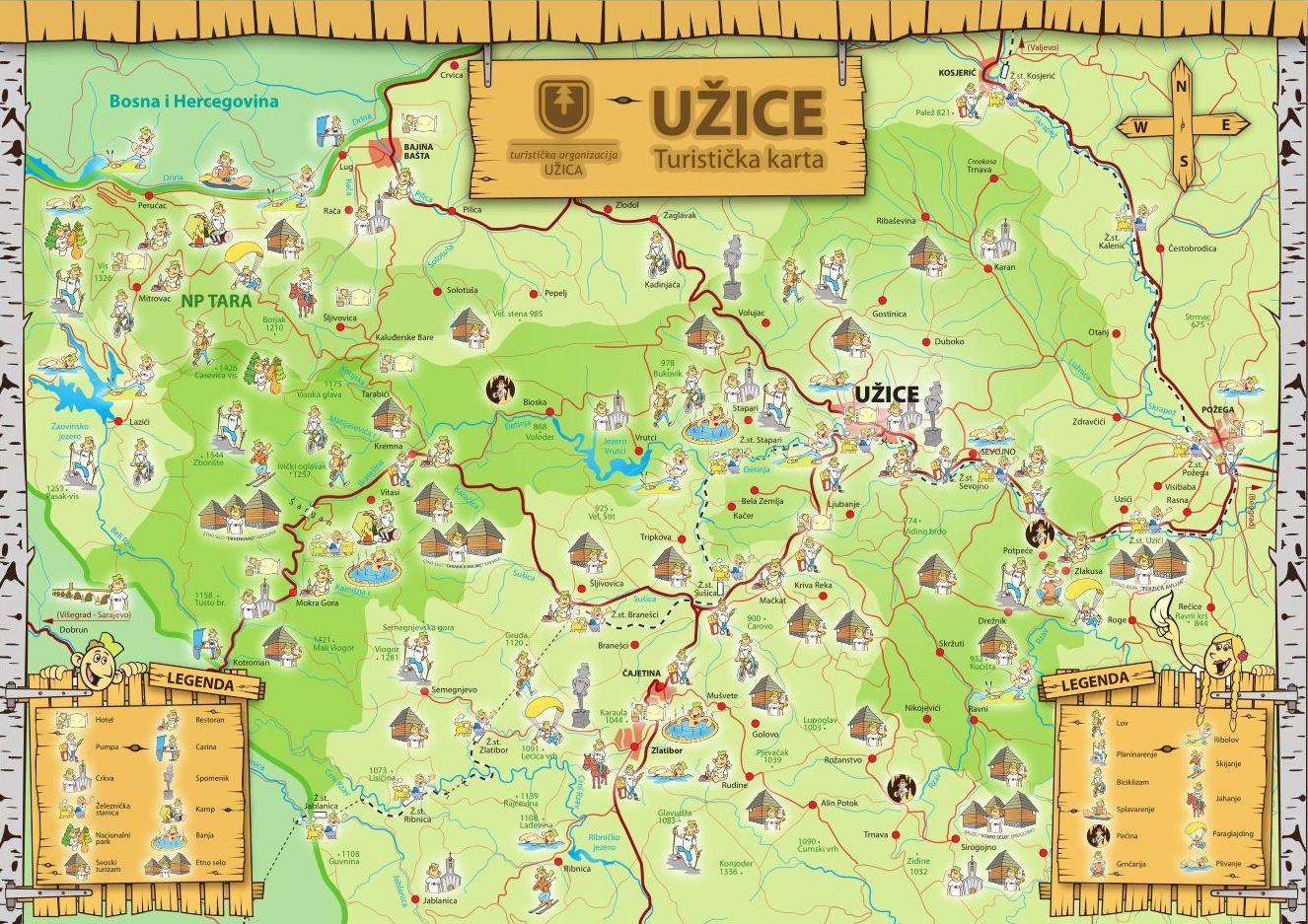 Mape Turisticka Organizacija Uzica